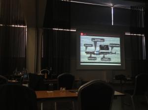 Diapositiva de presentación en 'Lacon 2013'