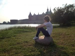 Puesta de sol a orillas del castillo de Kalmar