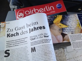 "Air Berlin invites you ""dining with the 'Chef of the year"" (January 2014 magazine)"