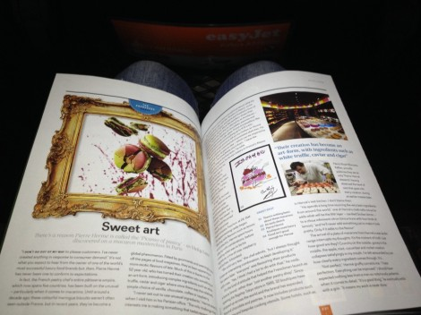 Expensive food art, according to EasyJet (January 2014 magazine)