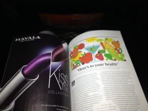 An EasyJet's article with advices to have healthy eating habits (January 2014 magazine)